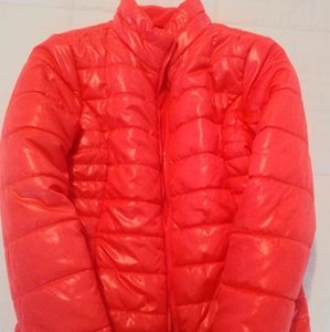 Justice puffer jacket/coat, Coral color, sz 16/18